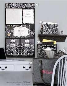 Thirty-One products are amazing for organization, and also serve as home decor, and come in trendy patterns  and (thirty-one hang-up home organizer in Parisian pop - Love it.   www.mythirtyone.com/peggywood