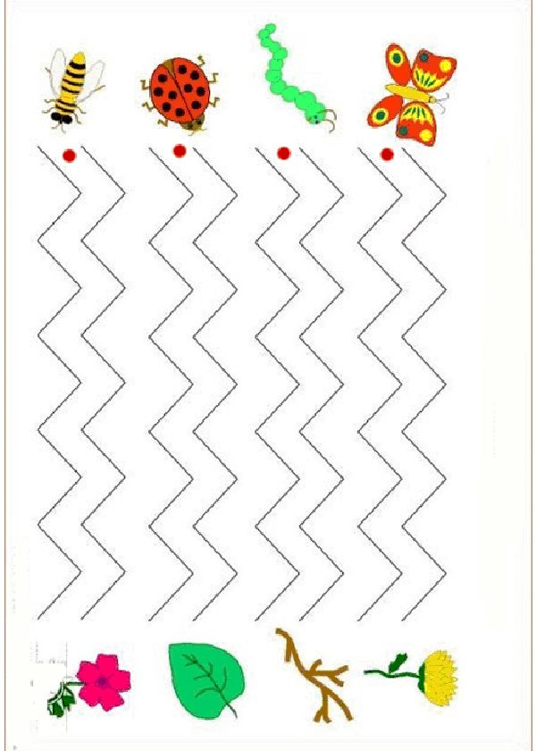 Printable Activities Graphomotor basic lines 6 Preeschol