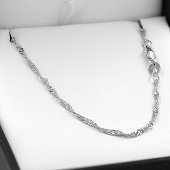 45cm Sterling Silver Singapore Rope Chain Necklace - SN-SN30
