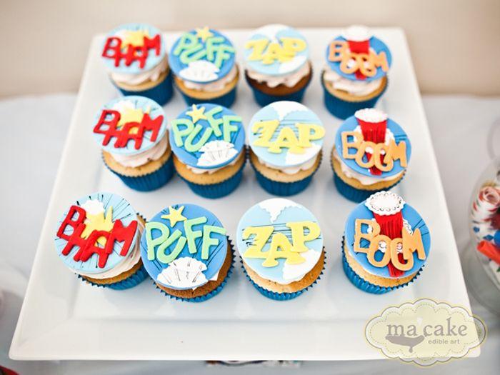 superhero: Superhero Birthday, Kids Birthday Parties, Superhero Parties, Parties Ideas, Super Heroes, Superhero Cupcakes, Heroes Parties, Birthday Kids, Birthday Ideas