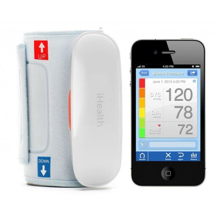 iHealth Wireless Blood Pressure Monitor - Ten ciśnieniomierz drogą bezprzewodową dostarczy informację o Twoim ciśnieniu wprost na ekran smartfonu lub tabletu. Specjalnie przygotowany program iHealth MyVitals app pozwoli Ci spersonalizować ustawienia zależnie od własnych preferencji. Bez problemu będziesz mógł śledzić ciśnienie skurczowe/rozkurczowe, akcję serca, tętno oraz czas pomiaru