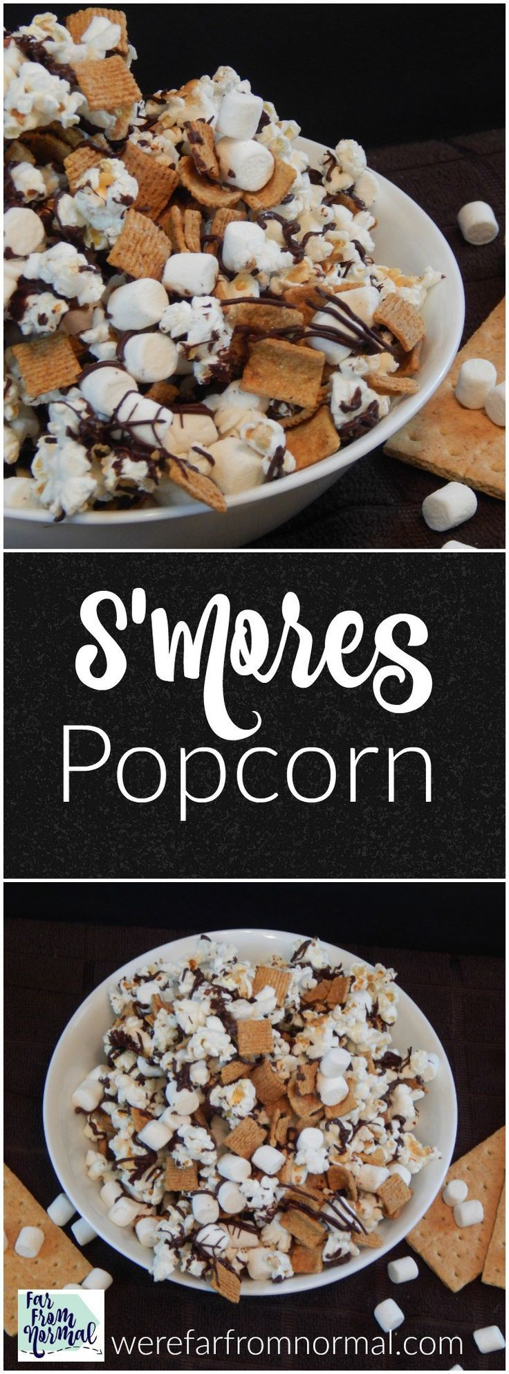 Do you love s'mores? This s'mores popcorn combines your favorite snack with the delicious chocolate, graham cracker, and marshmallow taste of s'mores!