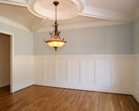 Great Ceiling Amp Wainscoting Sherwin Williams Tradewind