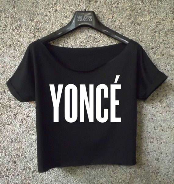 yonce shirt beyonce logo printed cropped tee women crop top