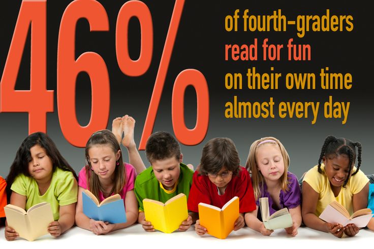 Only 46% of children read for fun every day.  Start reading with a child when they're born to build skills and a love for stories.