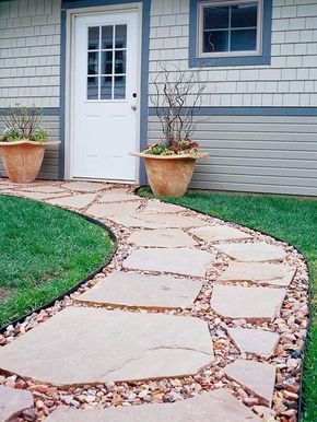 Flagstone Walkway EXCELLENT ADVICE ABOUT SIZE TO BUY AND HOW TO DO IT EASILY