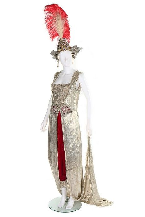 "Fancy dress designed by Poiret for his famous ""One Thousand and Second Night"" party, January 10th, 1914 From Kerry Taylor Auctions"