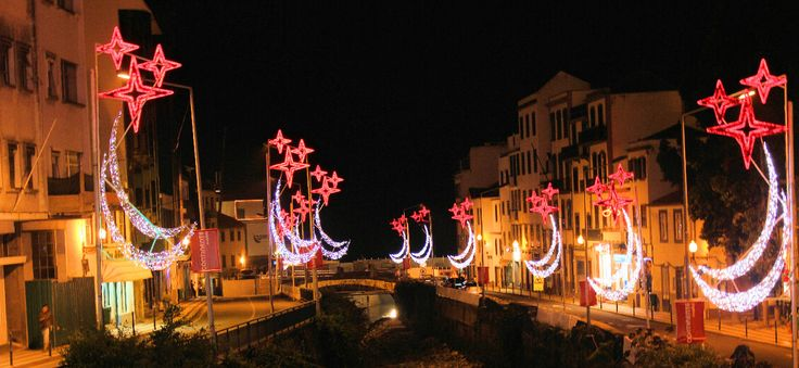 Christmas lights in Madeira