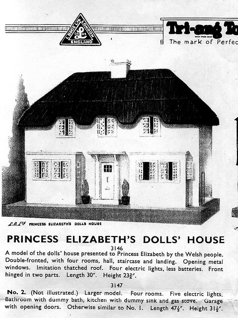 Princess Elizabeth 39 S Dolls 39 House Triang Dollhouses