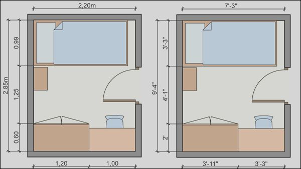 Small Bedroom 8x8 Bedroom Layout This Matters Because A Single Bedroom Could Fit Into A Space Smaller Than This Imagine A Cozy Bedroom For A Toddler Using A Small Attic Room