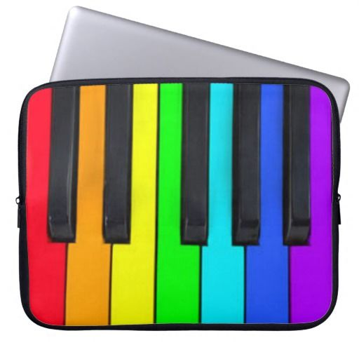 Spectrum Colors Piano Keyboard Copyright © TJ Ro All Rights Reserved