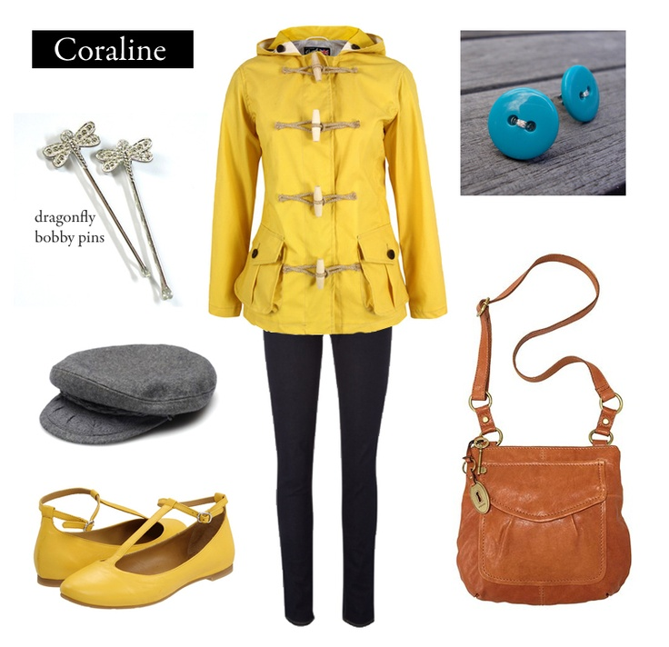 Outfit Inspired By Coraline By Neil Gaiman