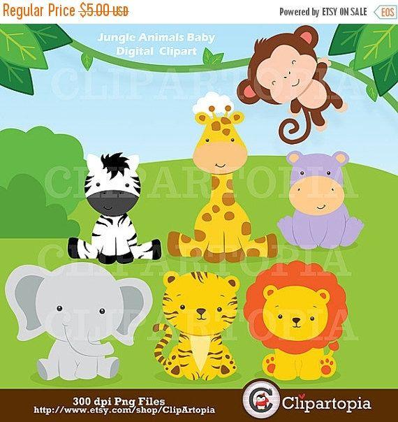 animales de la selva bebes para uso personal y comercial safari animalsbaby animalsbaby shower