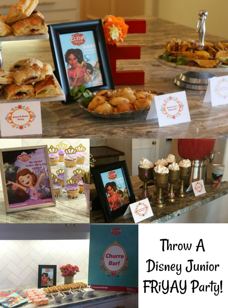 Do you need some food inspiration for your Disney Junior FRiYAY party? Check out these Sofia the First and Elena of Avalor treats! AD