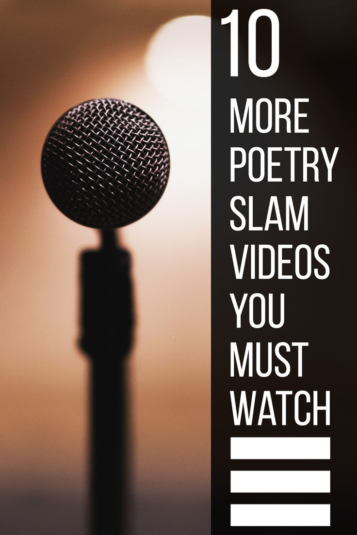 Need a poetry fix? Check out these 10 rad poetry slam videos!