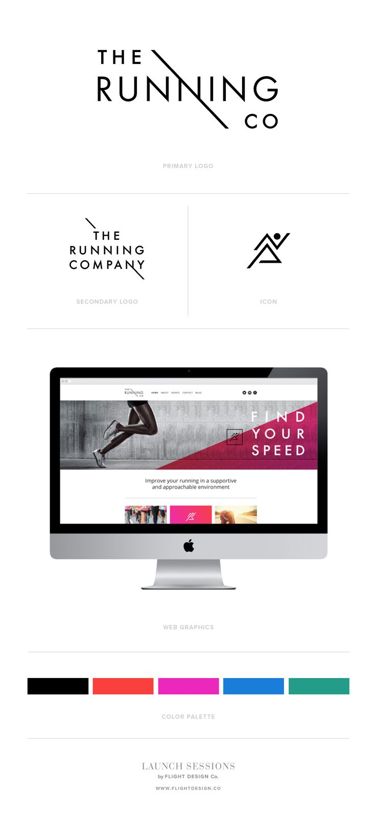The Running Company | Logo, Branding & Style Guide by Launch Sessions of Flight Design Co.
