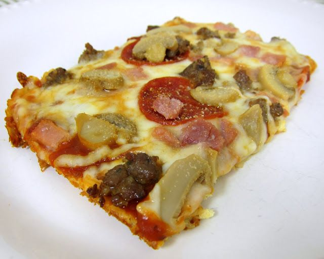 Low carb pizza......low carb, because your sauce will have carbs.