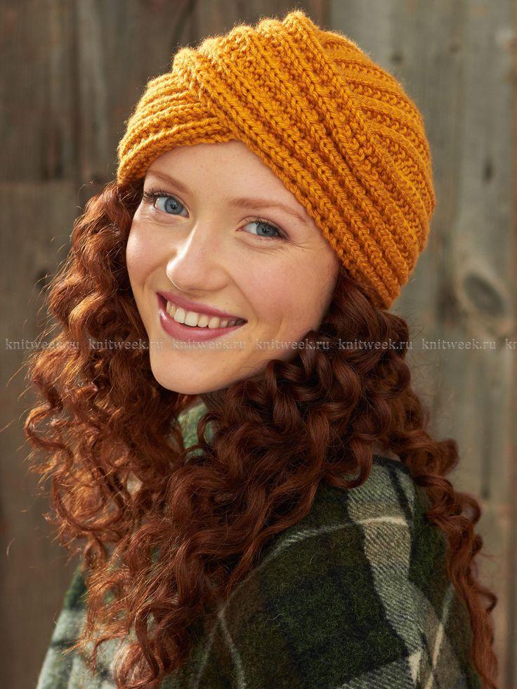 Оранжевая шапка-тюрбан