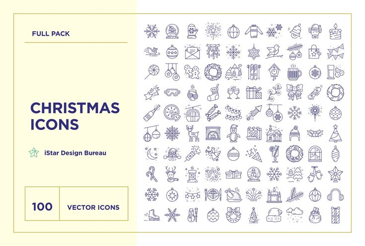 Christmas Icons Set by iStar Design Bureau on @creativemarket