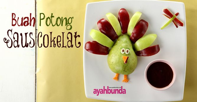 Buah Potong Saus Cokelat :: Fruits with Chocolate Sauce