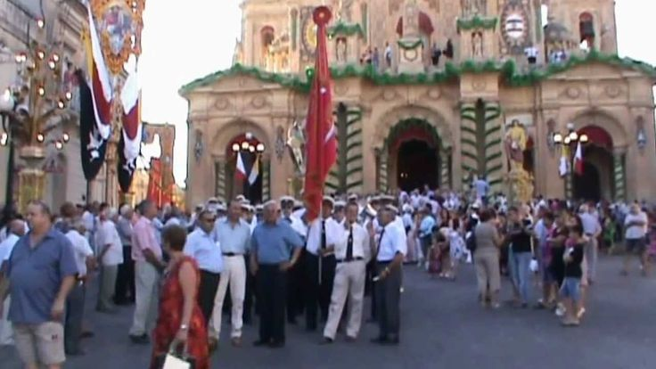 MALTA - Siggiewi: Feast of St Nicholas 2012 - Exit of Procession