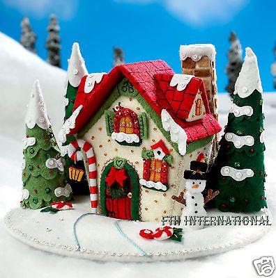Bucilla-Marys-Snow-Cottage-Felt-3D-Christmas-Home-Decor-Kit-86162-House