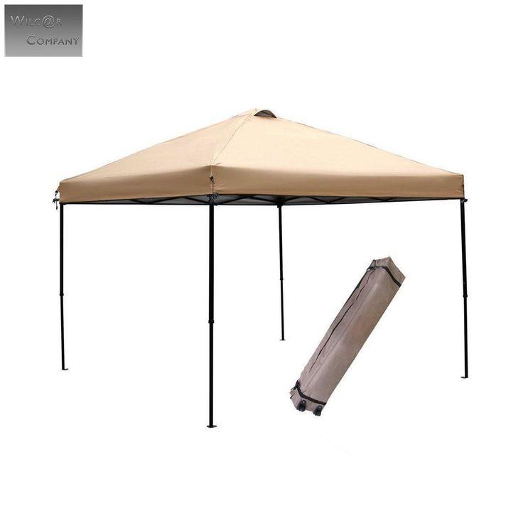 10x10 Pop Up Gazebo Tent Canopy Quick Ez Up Beach Roller Bag Waterproof  Instant