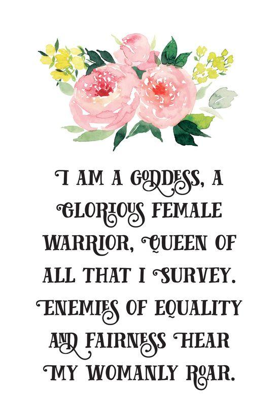 Pawnee Goddesses' Creed- Parks & Recreation Art Print