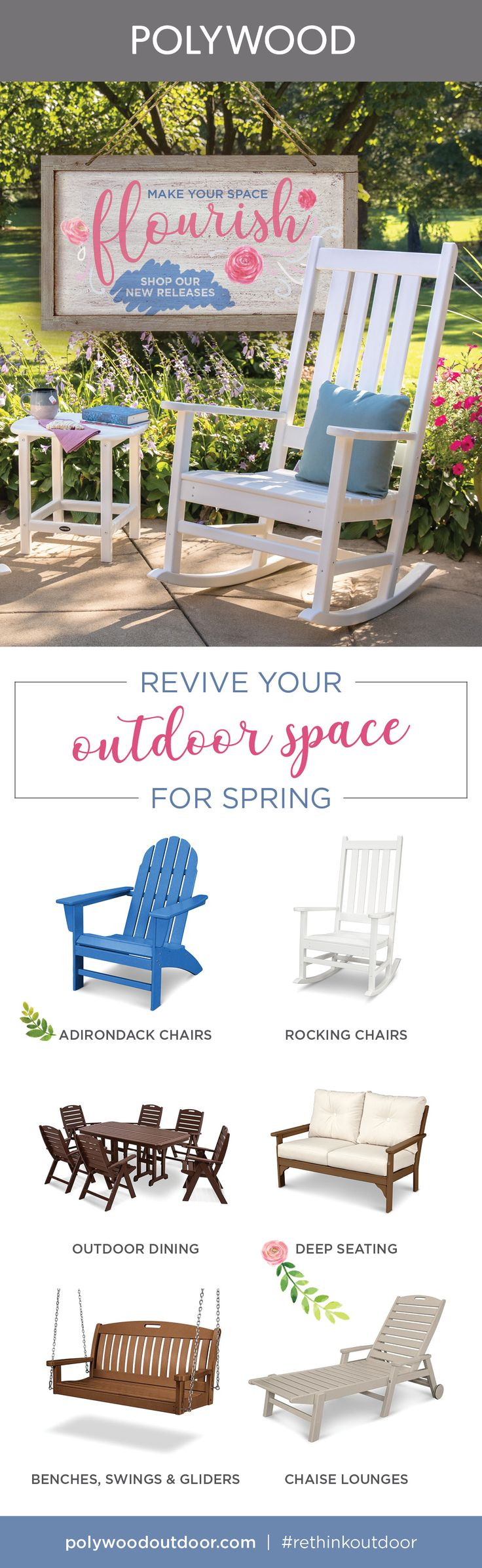 Prepare for spring with our newest releases, including our Limited Edition Adirondack Chairs, and make this season your best yet!