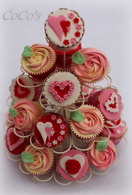 CoCos love heart cupcakes by Cocos Cupcakes Camberley, via Flickr
