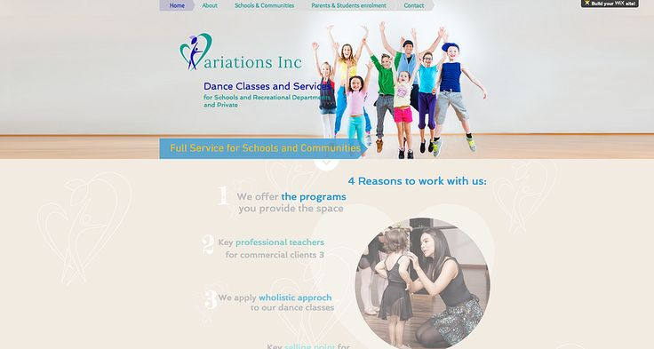 Wix Professional Web Design Dance school