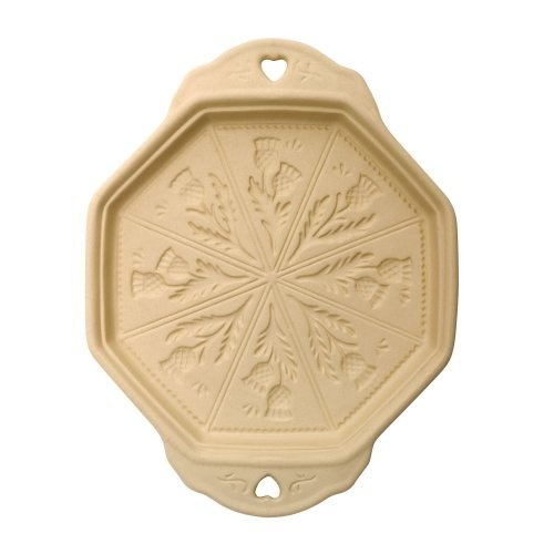 Shortbread Baking stone - 8 mould with thistle pattern.