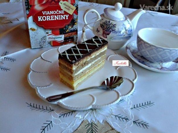 Medovo-perníkové rezy s mascarpone čokoládovým krémom (fotorecept) - Recept