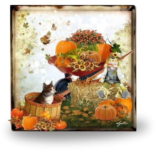 Autumn Activities for Home and Family: Easy to Make Pumpkins in Wheelbarrow Decorations
