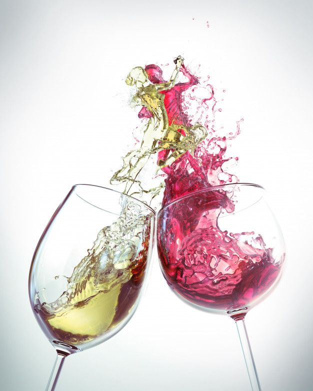 Red Wine And White Wine Splash Is The Shape Of A Man And A Woman Dancing Wine Painting Wine Art Red Wine