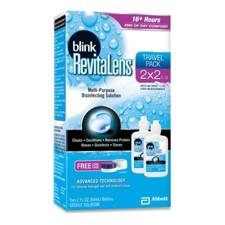 Blink RevitaLens Multi-Purpose Disinfecting Solution Formulated for Soft Contact Lenses - 2 CT, Two 2 FL OZ, Multicolor