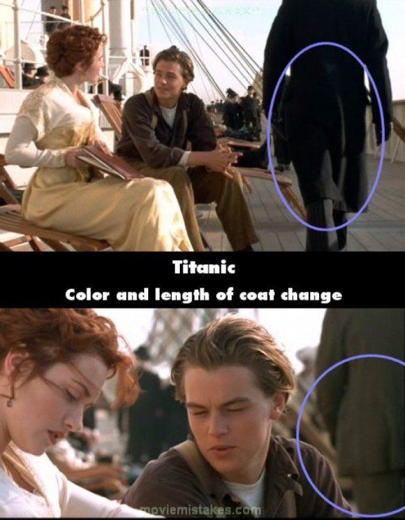 Errores en la película del Titanic