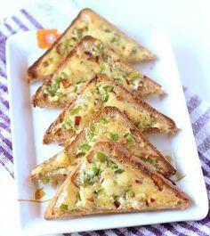 Veg Chilli Cheese Toast Recipe, Indian Chilli Cheese Toast Recipe - WeRecipes