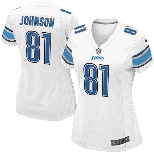 womens nike detroit lions 81 calvin johnson elite white jersey109.99 · nfl jerseysnike