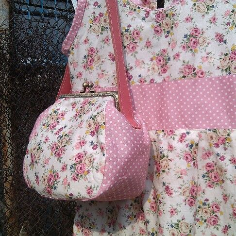 A set of dress and mini frame bag for my little girl