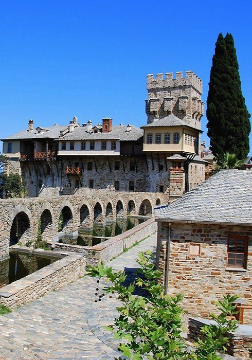 The Monastery of Stavronikita, Mount Athos, Greece
