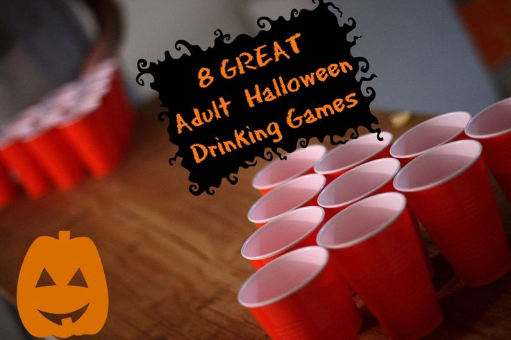 8 Awesome Halloween Drinking Games For Adults: Try your hand at bobbing for liquor, a scary movie drinking game and monster mash.