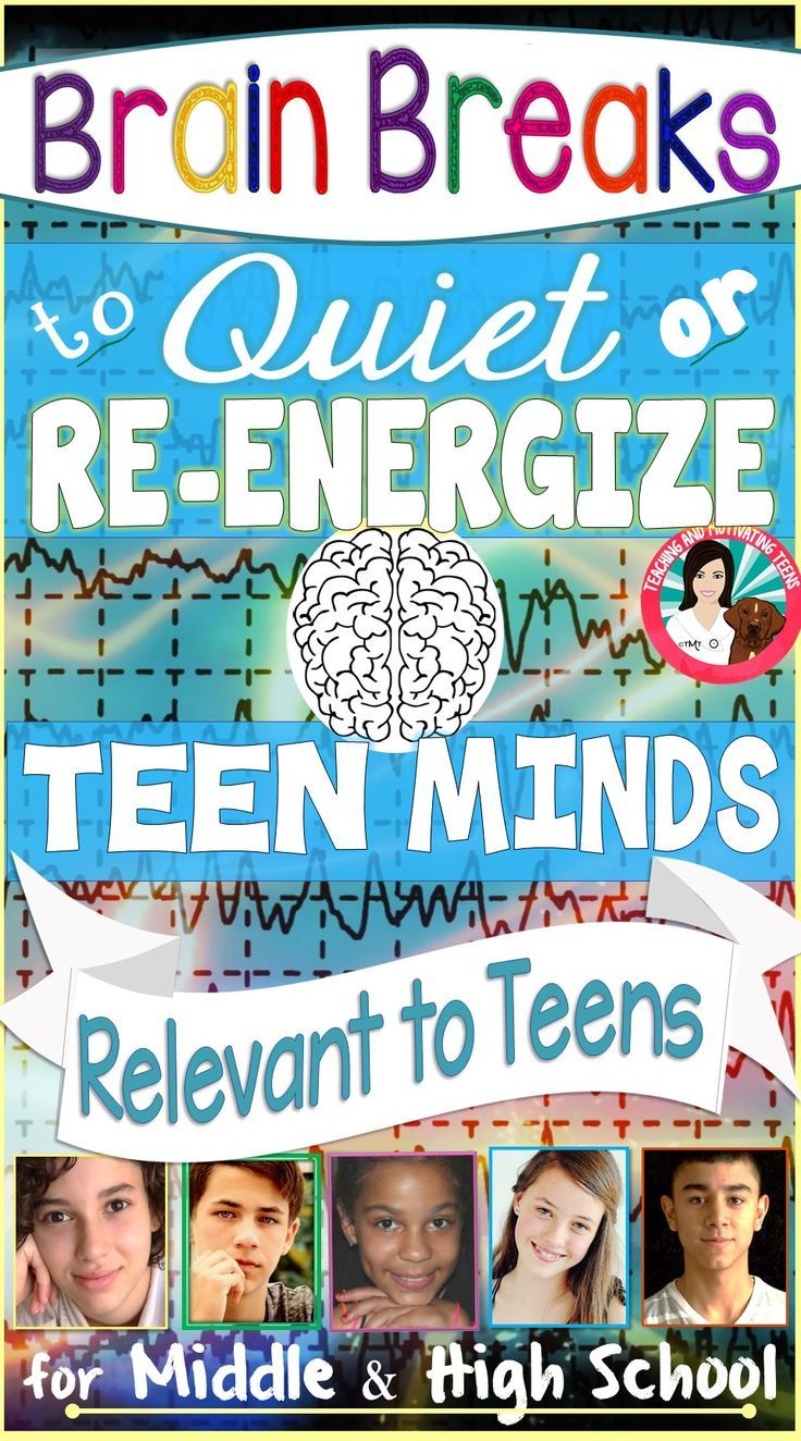 This resource provides 47 pages of 12 detailed, how-to brain breaks with resources for your middle or high school class room. Perfect for all subjects. Some of these are designed to invigorate and some to relax teen minds. Check it out!