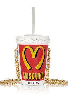Moschino Milkshake embroidered leather shoulder bag   NET-A-PORTER เก๋ . . . โครตตตตตตตตตตตตตตต