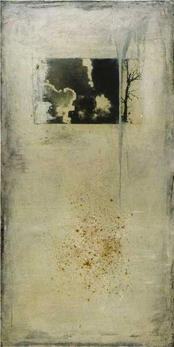 mixed media 03-2 ~ photograph and oil on canvas ~ sadatsugu toboe