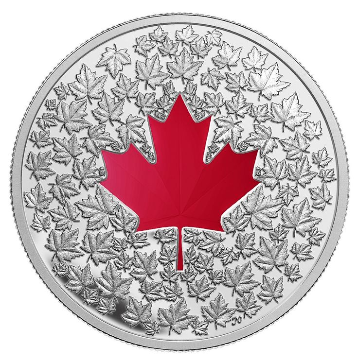 Royal Canadian Mint $20 2013 Fine Silver Coin - Maple Leaf Impression $114.95