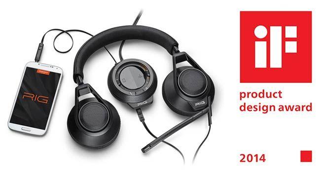 Le casque RIG de Plantronics Prix international du design IF - Le système RIG (casque + mixeur) plonge les joueurs dans leur partie en alliant une qualité audio exceptionnelle et dynamique, un confort haut de gamme et une souplesse totale d'utilisation.