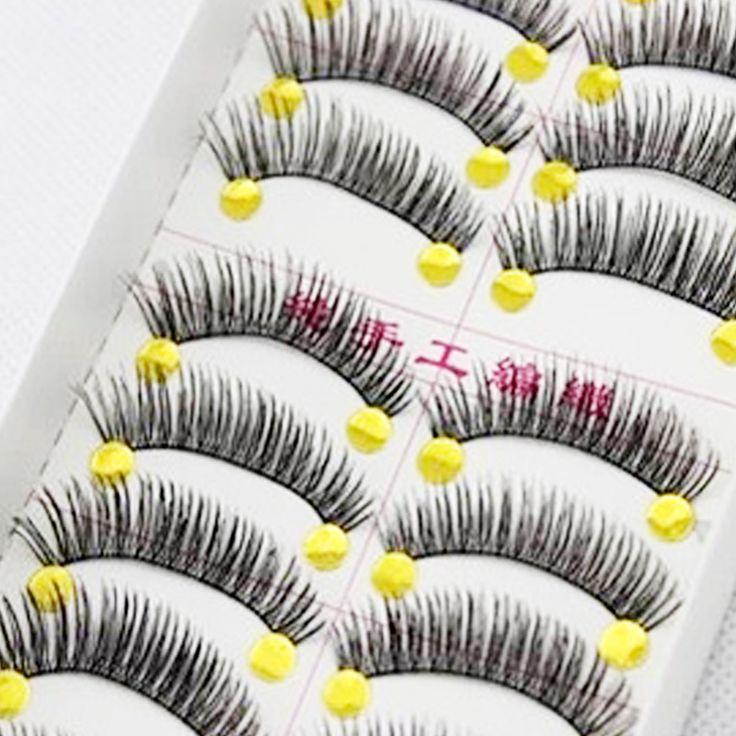 10 paires 100% main Long et épais faux cils de vison cils Extensions Eye Lashes volumineux faux cils maquillage Maquiagem