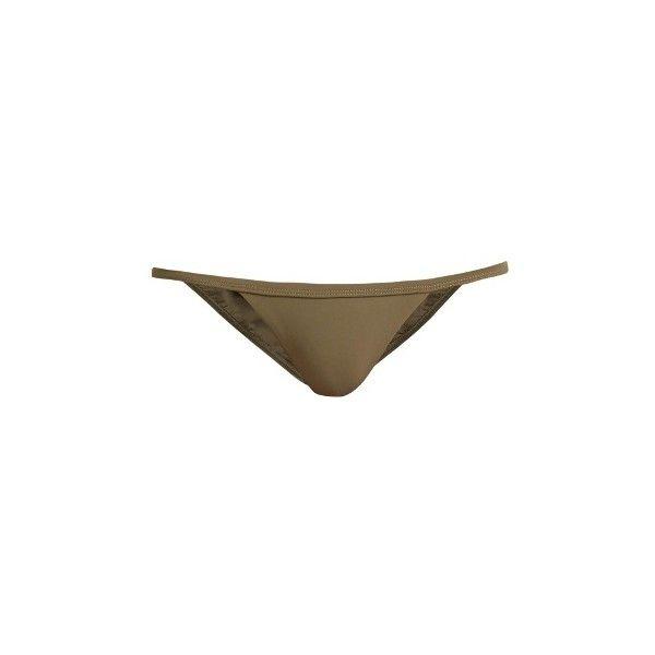 Matteau The Petite bikini briefs (2.400 UYU) ❤ liked on Polyvore featuring swimwear, bikinis, bikini bottoms, swim, khaki, strap bikini, swimming bikini, khaki bikini, strappy bottom bikini and petite bikini