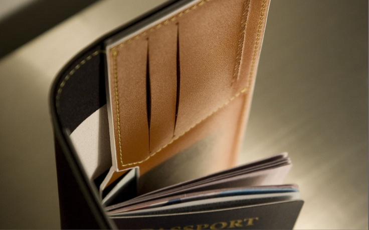 F/W 2012 Landmarks & Lions - Quantum Leather Passport Travel wallet